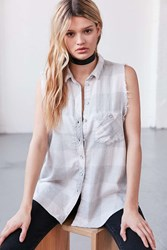 Bdg Re Worked Sleeveless Flannel Shirt Ivory