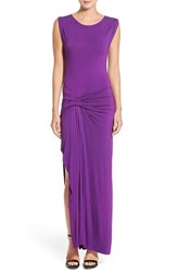 Young Fabulous And Broke Women's Young Fabulous And Broke 'Bryton' Side Slit Maxi Dress Amethyst Solid