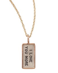 I Love You More' Charm Mini Heather Moore Gold