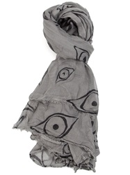 L'eclaireur Made By 'Eye' Scarf Grey