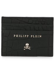 Philipp Plein Skull And Crossbones Plaque Cardholder Black