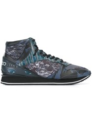 Kenzo Multi Icon Hi Top Sneakers Black