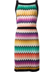Missoni Crochet Knit Dress Multicolour