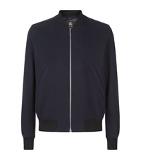 Paul Smith Waffle Bomber Jacket Male Navy