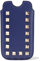 Valentino Rockstud Iphone Leather Case Blue