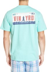 Vineyard Vines Men's 'Vineyard Plate' Graphic Pocket Crewneck T Shirt