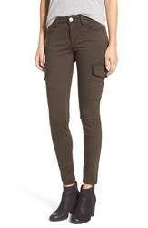 Sts Blue Women's Cargo Pocket Skinny Pants Dark Olive