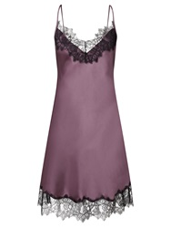 Alice By Temperley Somerset By Alice Temperley Mia Short Silk Chemise Chocolate Mauve