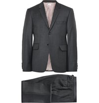 Thom Browne Charcoal Wool Suit Gray