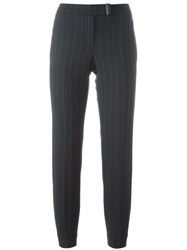 Brunello Cucinelli Pinstriped Tailored Trousers Blue