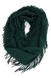 Women's Bp. Rib Knit Fringe Infinity Scarf Green Wood