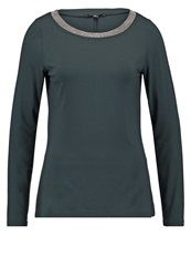 Comma Long Sleeved Top Eucalyptus Green