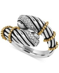Effy Collection Balissima By Effy Diamond Vintage Look Twist Ring 1 10 Ct. T.W. In Sterling Silver And 18K Gold Silver Gold