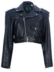 Jean Paul Gaultier Vintage Cropped Biker Jacket Black