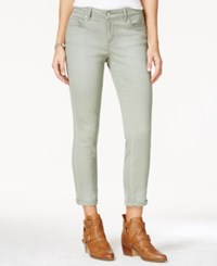 Jessica Simpson Juniors' Forever Rolled Pink Wash Super Skinny Jeans Lt Pas Grn