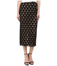 Yigal Azrou L Circle Lace Midi Skirt Black Women's Skirt