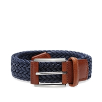 Andersons Anderson's Woven Waxed Canvas Belt Navy