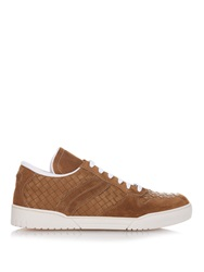 Bottega Veneta Intrecciato Leather And Suede Trainers