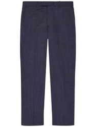 Jaeger Pick And Pick Wool Classic Suit Trousers Blue