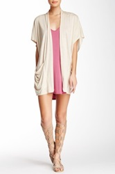 Riller And Fount Lou Patch Pocket Cardigan Beige
