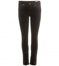 Rag And Bone Zipper Capri Cropped Velvet Trousers Black