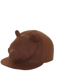 Francesco Ballestrazzi Bear Head Felt Baseball Hat