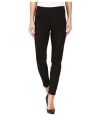 Ivanka Trump Faux Suede Pull On Pants Black Women's Casual Pants