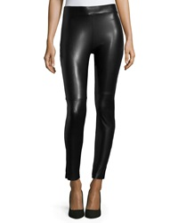Wolford Estella Faux Leather Leggings Black