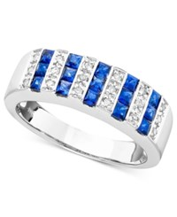 Macy's Gemstone 9 10 Ct. T.W. And Diamond 1 10 Ct. T.W. Ring In 14K Gold Or White Gold Sapphire