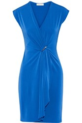 Michael Michael Kors Draped Wrap Effect Stretch Jersey Dress