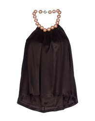 Moschino Cheap And Chic Moschino Cheapandchic Tube Tops Dark Brown