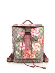 Gucci Gg Blooms Backpack Rose Beige