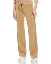 Juicy Couture Black Label Original Flare Velour Pants In Aubergine 100 Bloomingdale's Exclusive Camel