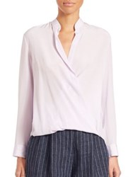 3.1 Phillip Lim Draped Silk Blouse Lavender