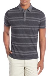 Robert Barakett Men's 'Cameron' Double Stripe Pique Polo