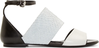 Mcq By Alexander Mcqueen Grey Fish Leather Erin Sandals