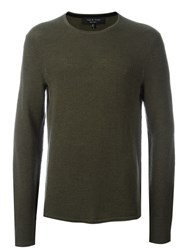 Rag And Bone Crew Neck Jumper Green