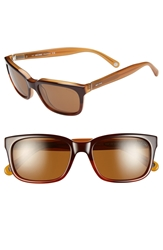 Jack Spade 'Payne' 54Mm Polarized Sunglasses Tortoise Fade Brown