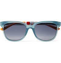 Orlebar Brown D Frame Acetate Sunglasses Blue