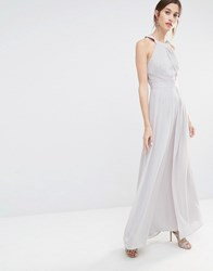 Warehouse Strappy Maxi Dress Grey