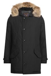 Woolrich Polar Down Parka With Fur Trimmed Hood Black
