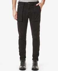 Buffalo David Bitton Men's Cameron X Cargo Pants Cleaned And Classic Black