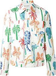 Our Legacy Palm Tree Print Jacket White