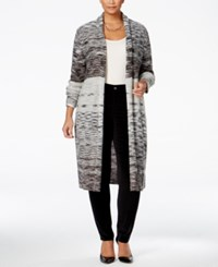 Styleandco. Style Co. Plus Size Space Dyed Duster Cardigan Only At Macy's Deep Black Combo