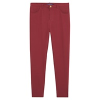 Violeta By Mango Button Leggings Dark Red