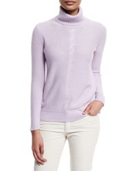 Loro Piana Long Sleeve Turtleneck Cashmere Sweater Lilac