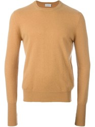 Ballantyne Crew Neck Jumper Nude And Neutrals