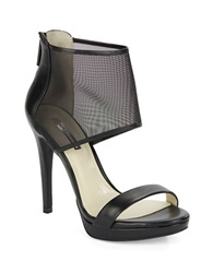 Bcbgeneration Gerbera Platform Leather Stilettos Black