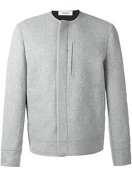 Chalayan Collarless Jacket Grey