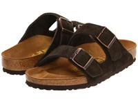 Birkenstock Arizona Suede Unisex Mocha Suede Sandals Brown
